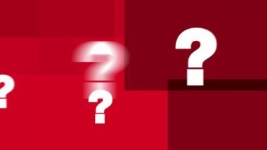 Question Marks Text Animation (HD Loop) — Wideo stockowe