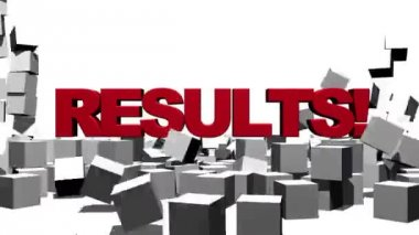 Results Breaking Through Block Wall — Stock Video