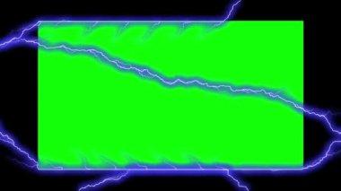 Electricity Frame - Electrical Arcs (Chroma Key) — Stock Video
