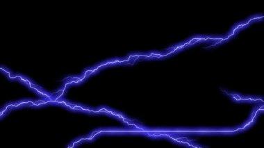 Electricity Frame - Electrical Arcs (+Alpha Matte) — Stock Video