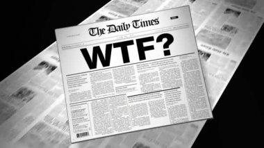 Slang WTF? - Newspaper Headline — Stock Video