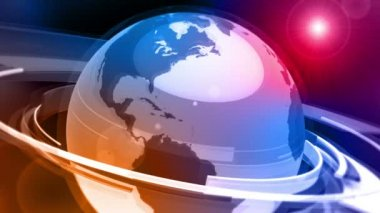 Earth Globe Animation (3D Glass World) — Stock Video