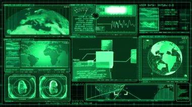 La tecnologia interfaccia Computer dati schermata Gui — Video Stock