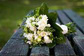 Beautiful white wedding bouquet  — Stock Photo