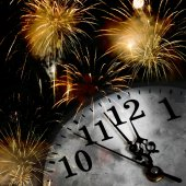 New Year's at midnight — Stock Photo