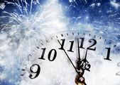 новый год в полночь — Стоковое фото