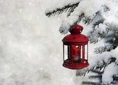 Christmas lantern — 图库照片