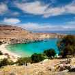 Lindos bay, Rhodes island, Greece — Stock Photo #66727311