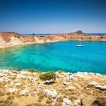 Lindos bay, Rhodes island, Greece — Stock Photo #66731111