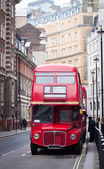 Old red London bus — Stock Photo