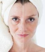 Beauty concept - skin care, anti-aging procedures, rejuvenation, — Stock Photo