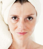 Beauty concept - skin care, anti-aging procedures, rejuvenation, — Stock Photo