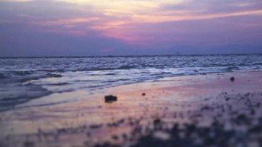 Tropical sunset, Railay beach, Krabi — Stock Video