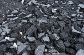 Pile of asphalt road surface — Stock Photo