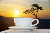 Coffee and Sunrise — ストック写真