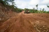 Road is rebuilt. — Stock Photo