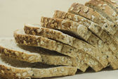Bread with Flax seed — Stock Photo
