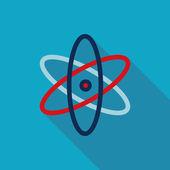 молекула плоский стиль значок — Cтоковый вектор