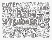 Baby shower  background — Vector de stock