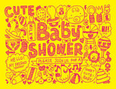 Baby shower  background — Stockvector