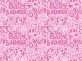 Baby shower pattern — Stock Vector