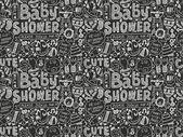 Baby sprcha vzor — Stock vektor
