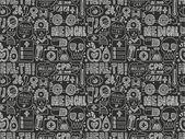Doodle medical pattern — Vector de stock