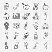 Baby icon sets — Stock vektor