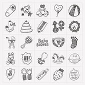 Baby icon sets — Stock Vector