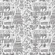 Seamless Doodle Birthday party pattern background — Stock Vector #53120661