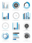 Conjunto de elementos infográficos — Vector de stock