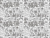 Doodle medical pattern — Stockvektor