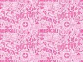 Doodle medical pattern — Wektor stockowy