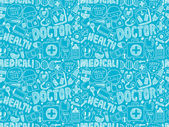 Doodle medical pattern — Stock Vector