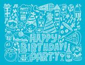 Birthday party background — Vetor de Stock