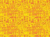 Seamless Birthday party pattern — Stockvector