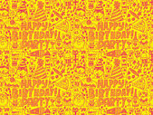 Seamless Birthday party pattern — Stockvektor