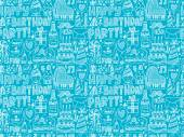Seamless  Birthday party background — Stockvektor