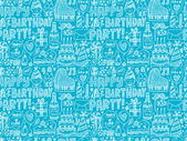 Seamless  Birthday party background — Stockvector