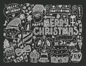 Doodle Christmas — Vetorial Stock