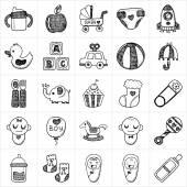 Baby icon sets — Stockvektor