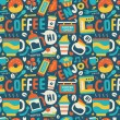Seamless coffee pattern — Stock Vector #57471409