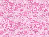Seamless coffee pattern — Stock Vector
