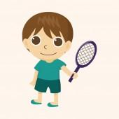 Tenisový hráč motivu — Stock vektor