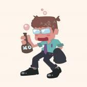 Person character drunk theme elements — 图库矢量图片