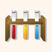 Test tubes and beakers theme elements — Stock Vector