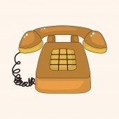 Telephone theme elements  — Stockvektor