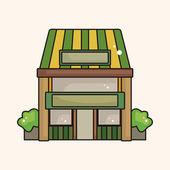 Shop store theme elements — Stock Vector