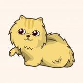 Cat cartoon theme elements — Stock Vector