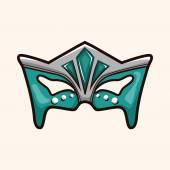 Элементы темы маски партия — Cтоковый вектор